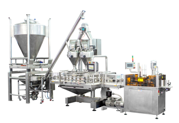 Automatic Double-Hopper Powder Filling Machine Packing Line